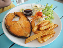 Łososiowy stek Obrazy Stock