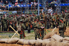Osovets battle reenactment Stock Photo
