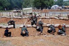 Osovets battle reenactment. Stock Photo