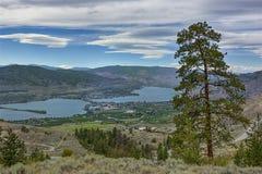 Osoyoos from Anarchist Mountain Okanagan Valley British Columbia Canada Royalty Free Stock Image