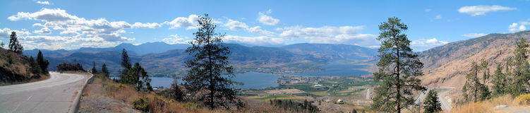 Osoyoos in the distance Stock Photos