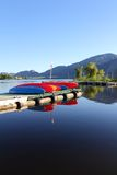 Osoyoos Lake Morning, BC, Vertical Royalty Free Stock Images