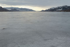 Osoyoos Lake Winter Freeze Stock Photos