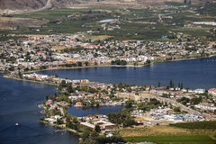 Osoyoos and Osoyoos Lake Stock Photo