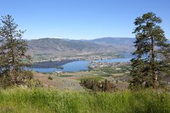 Osoyoos Town and Lake, British Columbia Stock Photography