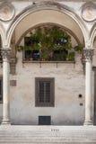 Ospedale degli Innocenti. Santissima Annunziata square in Florence Royalty Free Stock Images