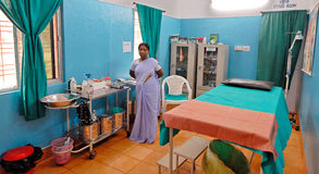 Ospedale del villaggio Fotografia Stock