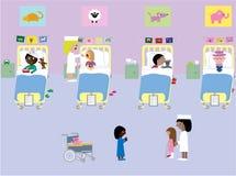 Ospedale di Children´s illustrazione di stock