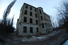 Ospedale distrutto Fotografia Stock Libera da Diritti