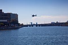Ospedale ed elicottero di Tampa Fotografia Stock Libera da Diritti