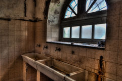 Ospedale psichiatrico abbandonato Fotografie Stock