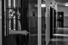 Ospedale psichiatrico criminale Immagine Stock Libera da Diritti