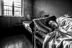 Ospedale psichiatrico criminale fotografia stock