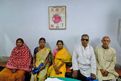 Ospedale rurale indiano fotografia stock