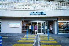 Ospedale universitario di Ginevra Immagine Stock Libera da Diritti