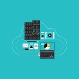 Ospitalità di calcolo della nuvola per lo sviluppo di affari Immagini Stock Libere da Diritti