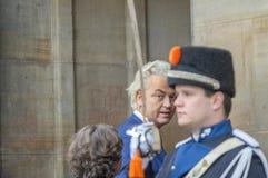 Ospiti alla ricezione dei nuovi anni dal re Of The Netherlands Geert Wilders 2019 fotografie stock libere da diritti