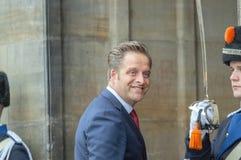 Ospiti alla ricezione dei nuovi anni dal re Of The Netherlands Hugo De Jonge 2019 fotografia stock