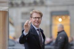 Ospiti alla ricezione dei nuovi anni dal re Of The Netherlands Sander Dekker 2019 fotografia stock libera da diritti