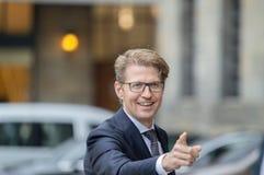 Ospiti alla ricezione dei nuovi anni dal re Of The Netherlands Sander Dekker 2019 immagine stock libera da diritti