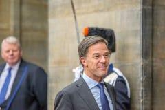 Ospiti alla ricezione dei nuovi anni dalla ricezione 2019 di anni di re Of The Netherlands Mark RutteGuests At The New dal re immagine stock