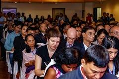 Ospiti allo IIJS Inaugration 2015 Fotografia Stock