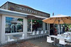 Ospiti nella città Nuova Zelanda di Matakana Fotografia Stock