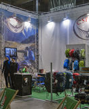 Osprey booth at bike trade show Royalty Free Stock Images