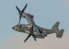 Osprey helicopter US Air Force. United States Air Force USAF CV22 variant of the V22 Osprey helicopter on a low level training mission over the UK 15th March stock photo