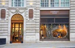 OSPREY shop LONDON Royalty Free Stock Photography