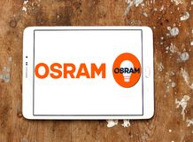 Osram lighting company logo Stock Photo
