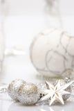 osrebrzają białe boże narodzenie Fotografia Royalty Free