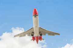 OSRL波音727着陆 免版税图库摄影