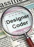 Oss beträffande hyra formgivare Coder för ` 3d royaltyfri illustrationer