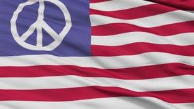 Oss sömlös ögla för fredflaggacloseup stock video