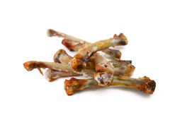 Ossa del pollo Fotografia Stock