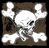 Ossa della traversa e del cranio Fotografia Stock Libera da Diritti