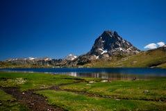 The Ossau Peak in France stock image