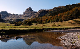Ossau Valley. Beautiful landscape in The Ossau Valley located in Pyrenees Mountains in France Stock Photography