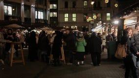 Ossequi di Natale, Budapest, Ungheria video d archivio