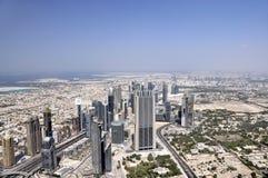 Osservando dal Burj Halifa - l'più alto buildin Fotografie Stock Libere da Diritti