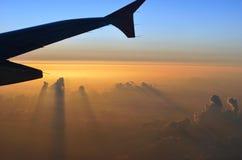 Osservando giù sul cielo Fotografie Stock