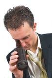Osservando troppo in profondità nella bottiglia fotografia stock libera da diritti