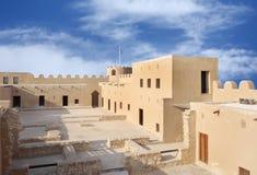 Osservando verso la zona occidentale della fortificazione di Riffa Fotografie Stock Libere da Diritti