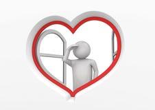 Osservatore 3 della finestra del cuore Illustrazione Vettoriale