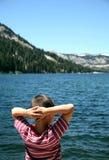 Osservatore del lago echo Fotografia Stock