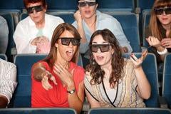 osservatori di film 3D Fotografie Stock