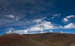 Osservatori di Mauna Kea Immagini Stock Libere da Diritti