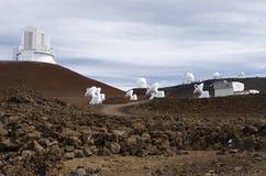 Osservatori di Mauna Kea Fotografie Stock Libere da Diritti