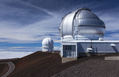 Osservatori su Mauna Kea, ciao Fotografia Stock Libera da Diritti